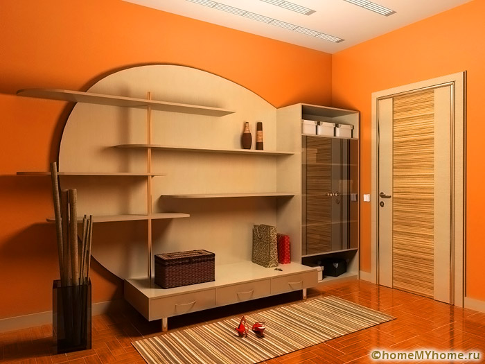 Corridor in het appartement ontwerp fotogalerij met originele