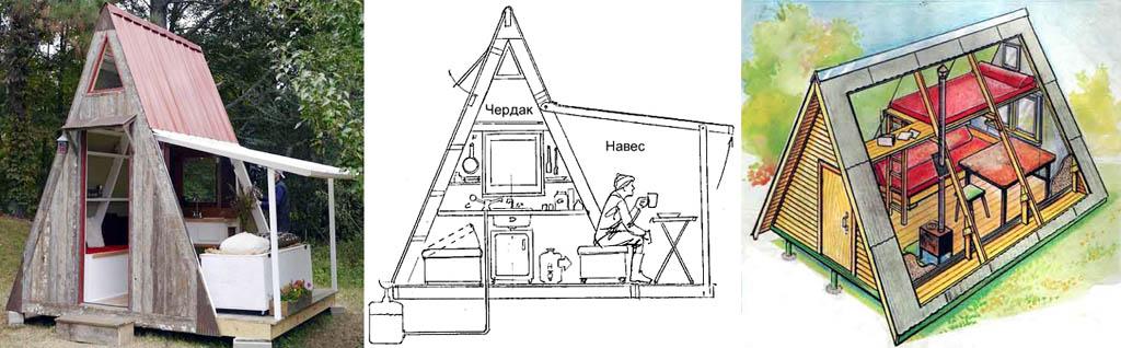 Дача своими руками треугольная 375